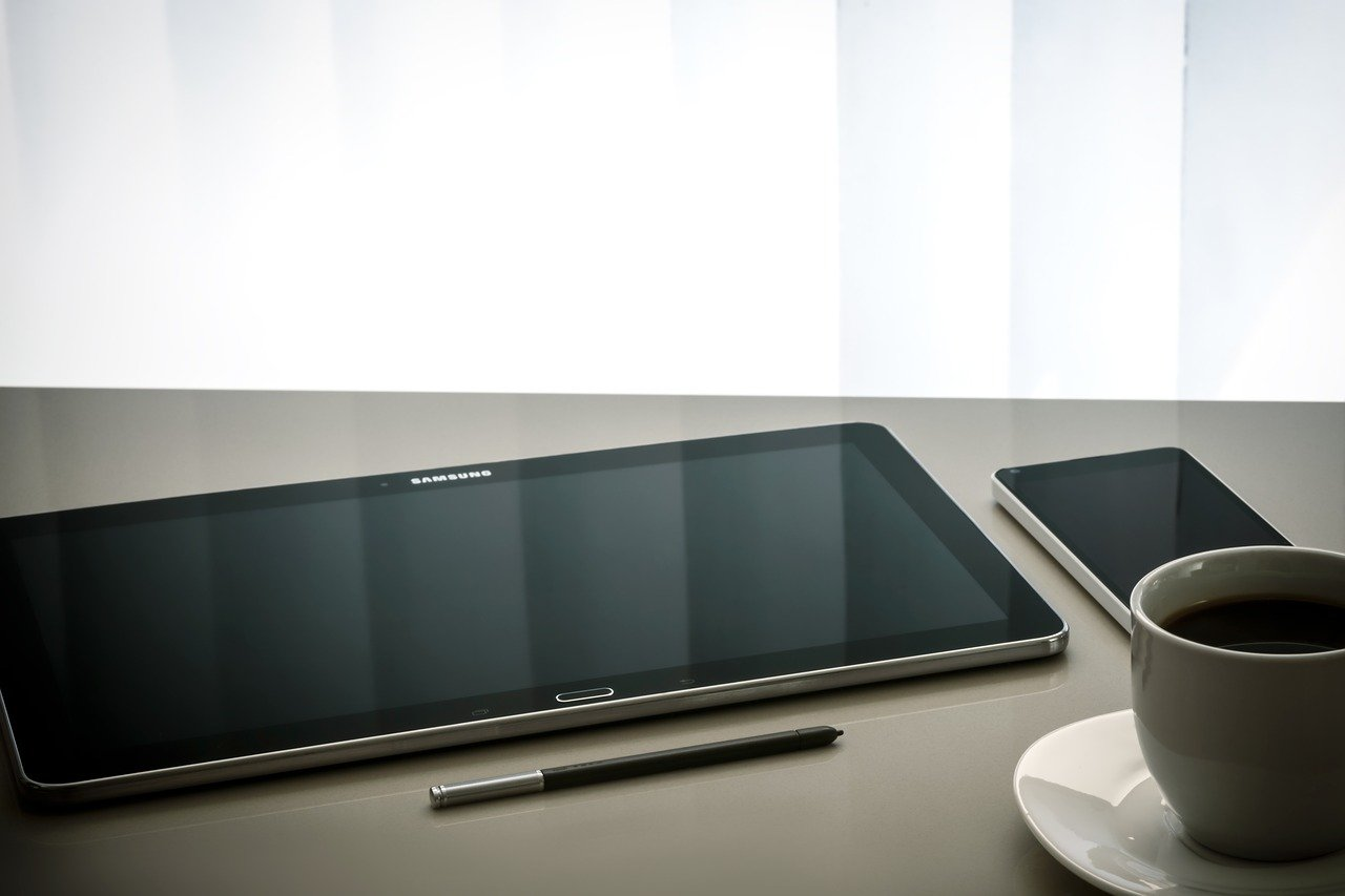 workplace, modern, tablet