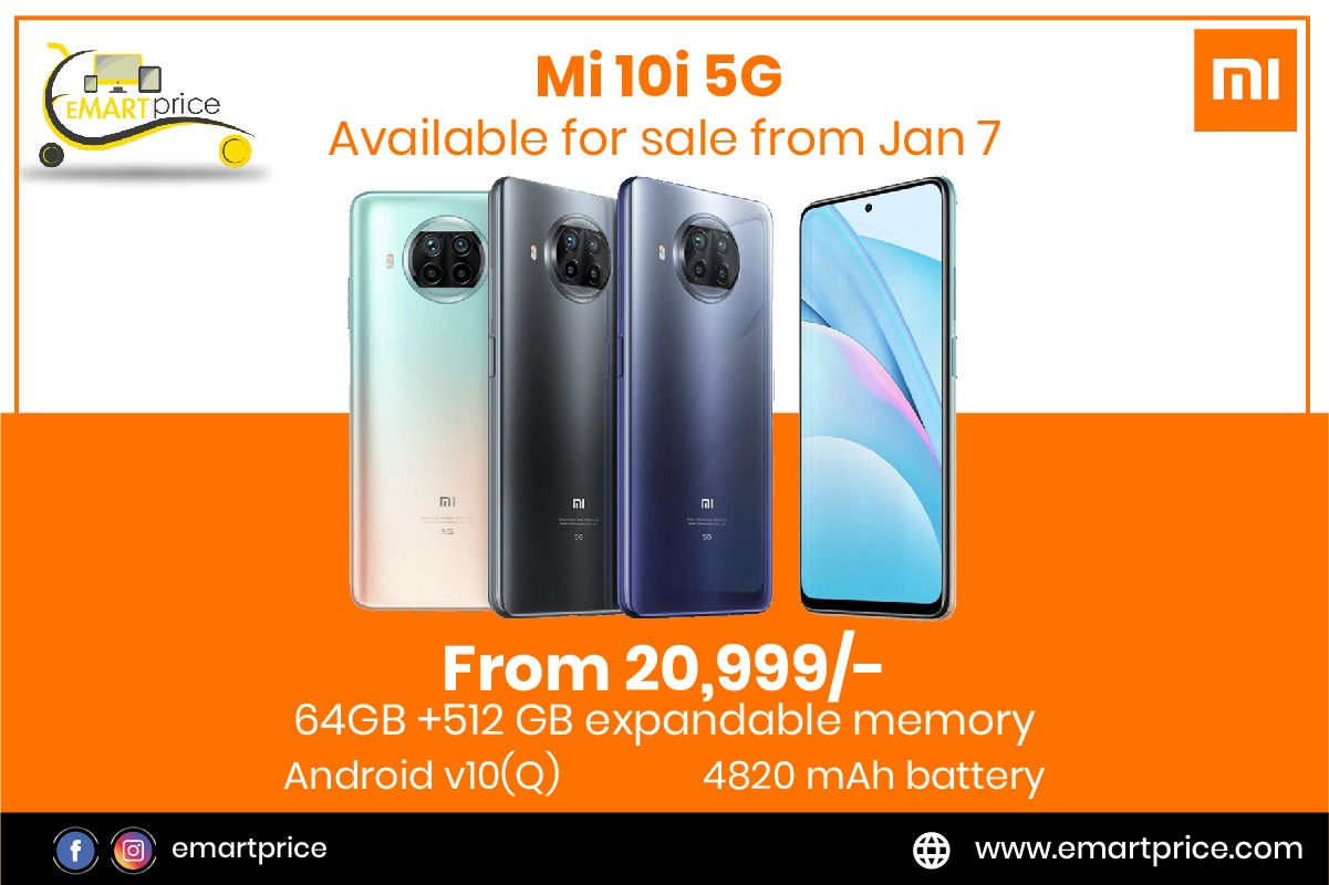 Mi 10i 5G: Features, Specifications and Prices only on Emartprice