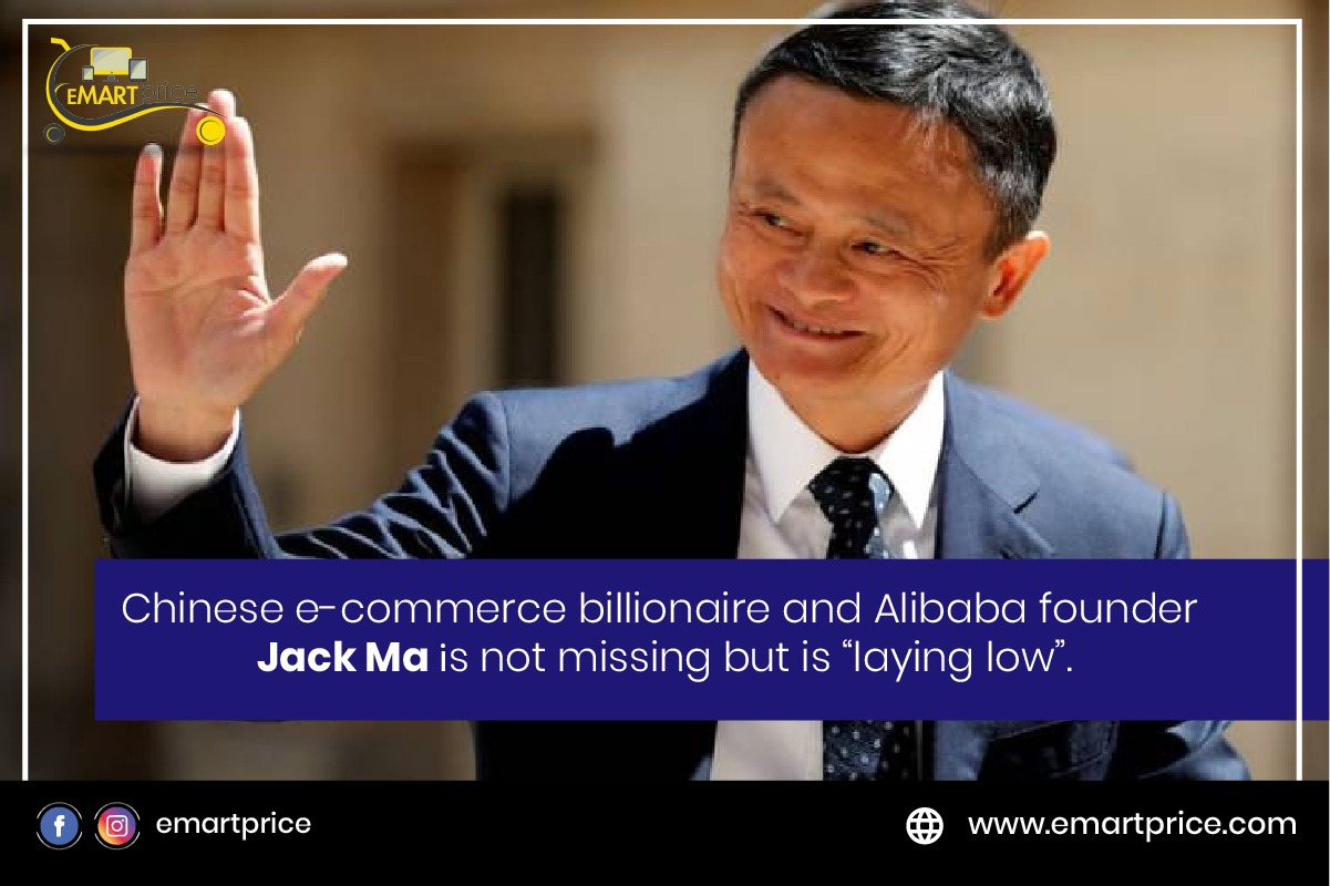 Jack Ma not missing, just laying low for some time
