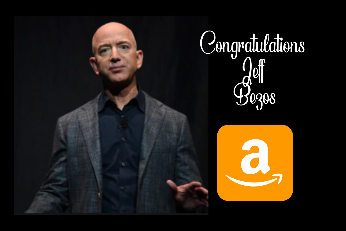 Congratulations Jeff Bezos: See you on a new role