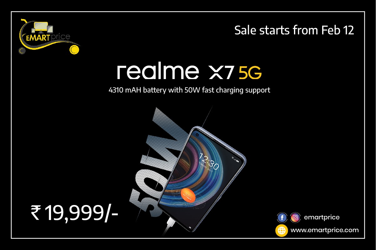 Emartprice realme X7 specs prices and features